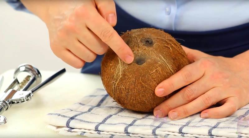 kokos Ako otvoriť kokos: 5 rýchlych krokov
