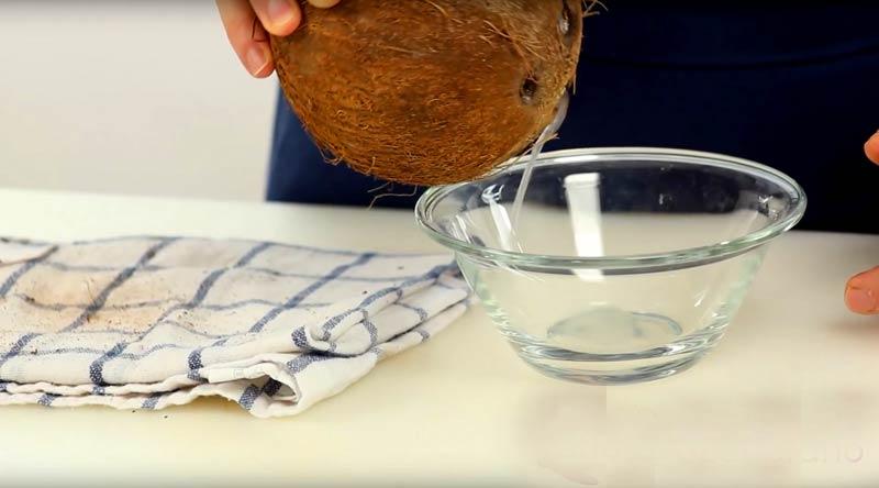 tekutina-kokos Ako otvoriť kokos: 5 rýchlych krokov