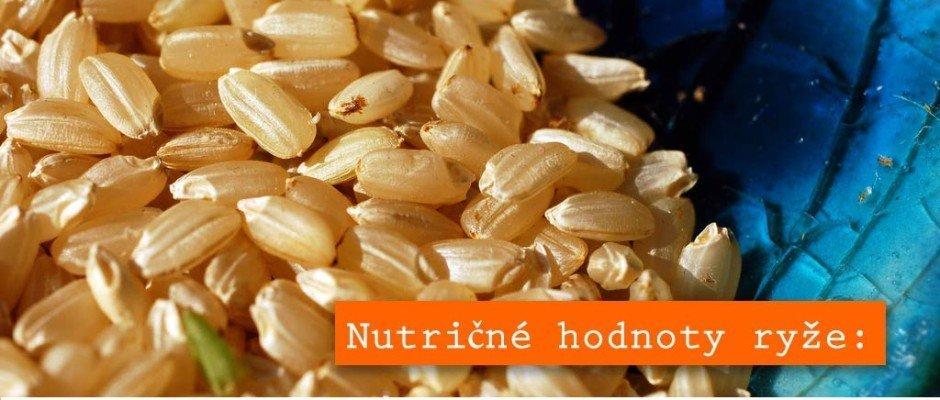 Nutričné hodnoty ryže