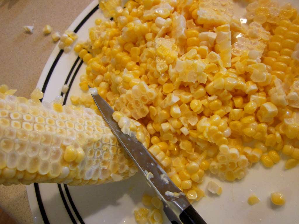 Olúpaná kukurica zo zrniek