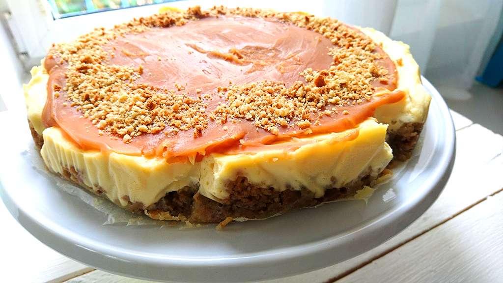 Cheesecake s mascarpone a karamelom