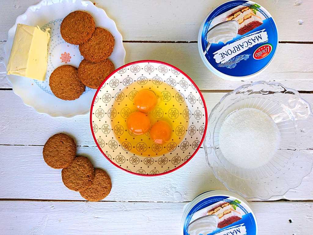 Citrónový cheesecake s mascarpone suroviny