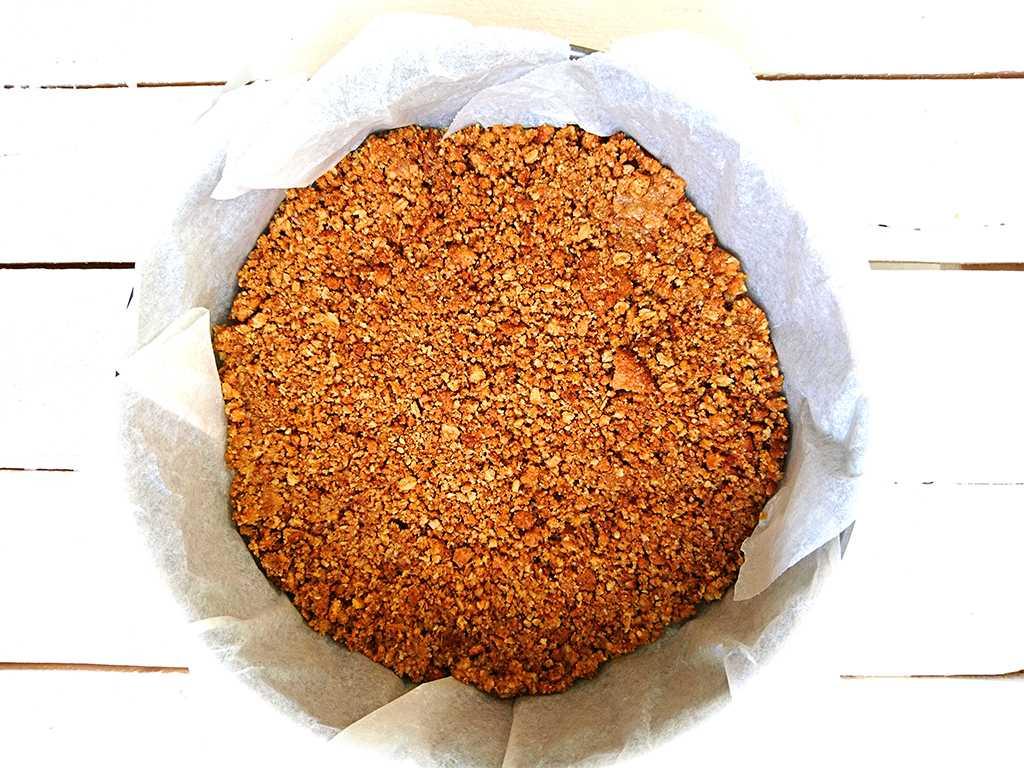 Citrónový cheesecake s mascarpone - korpus