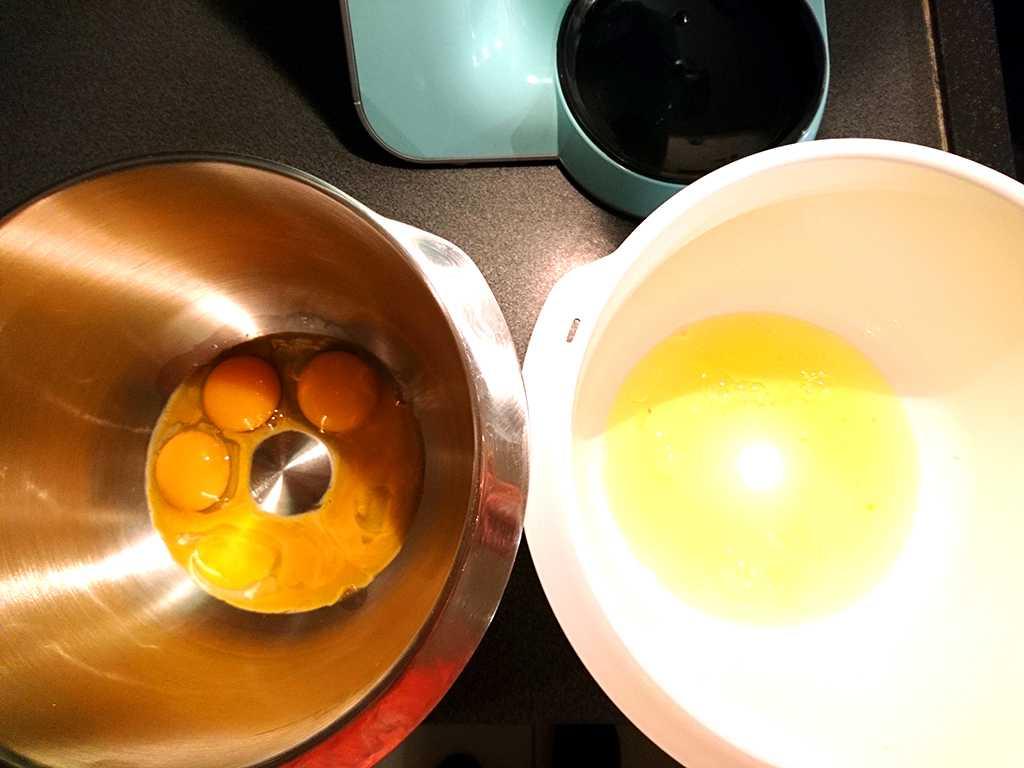 bielka a žltká na šľahanie
