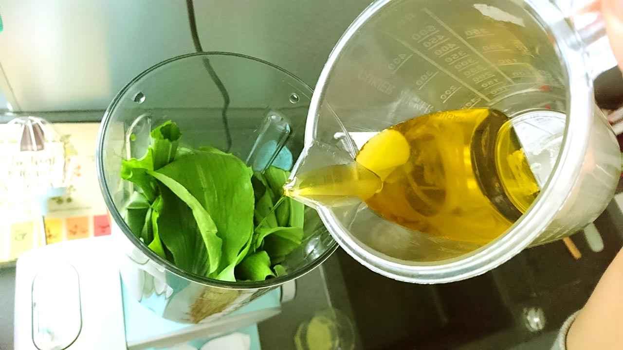 Medvedi cesnak, olivovy olej