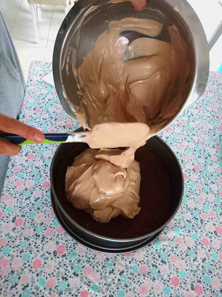Čokoládový cheesecake príprava