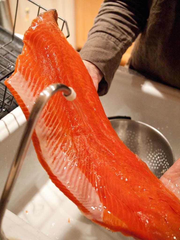umývanie lososa