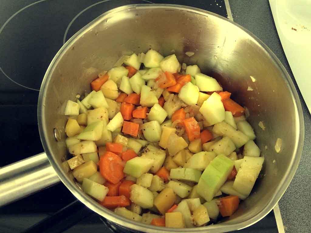 Cuketová polievka - varenie