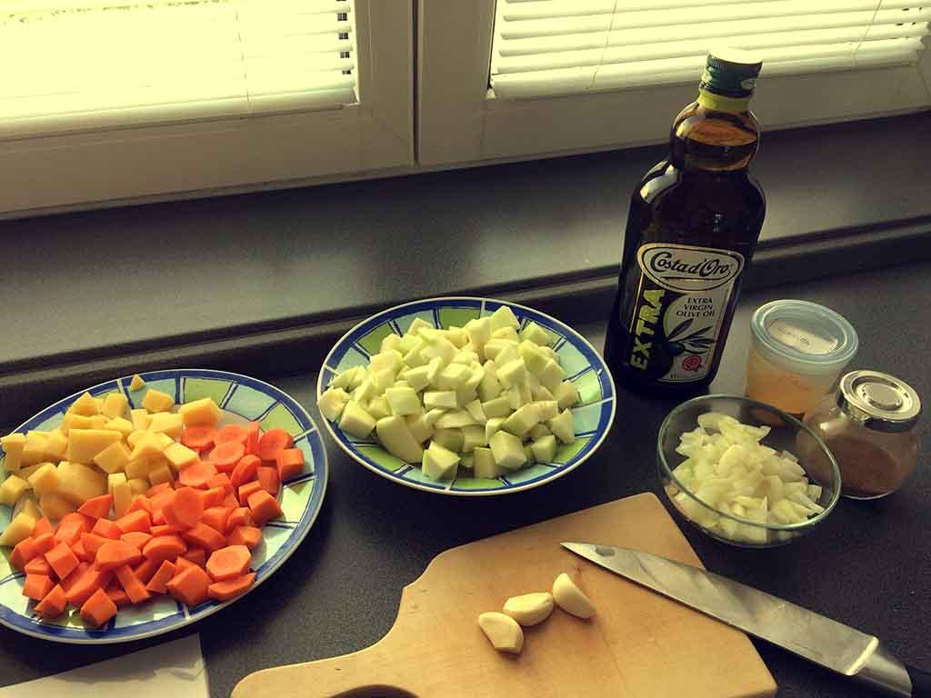Cuketová polievka - príprava